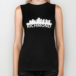 Curved Skyline Of Richmond VA Biker Tank