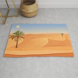 Desert Traveler Midcentury Style Illustration Rug