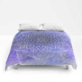 purple mandala of hearts Comforters