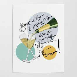 Cheers Prosecco Poster
