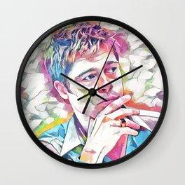 Brad Pitt (Creative Illustration Art) Wall Clock
