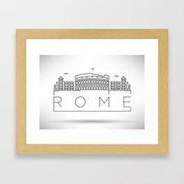 Linear Rome Skyline Design Framed Art Print