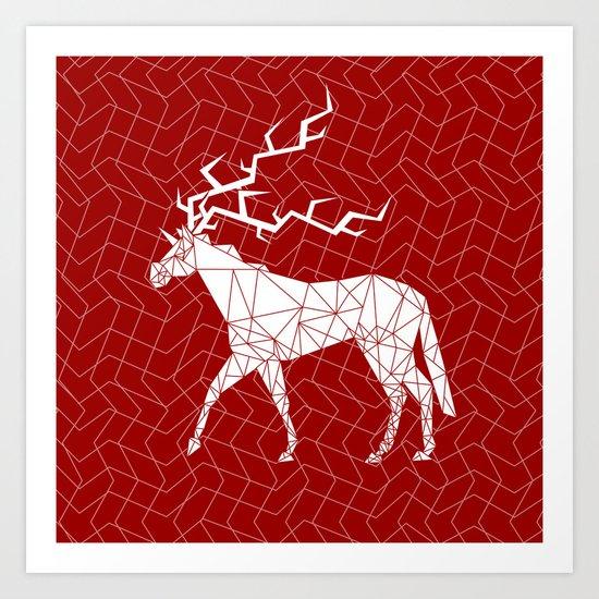 Reindeer Unicorn Art Print