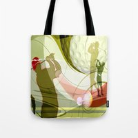 golf Tote Bags featuring Golf by Robin Curtiss