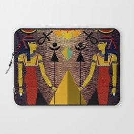Hathor under the eyes of Ra -Egyptian Gods and Goddesses Laptop Sleeve