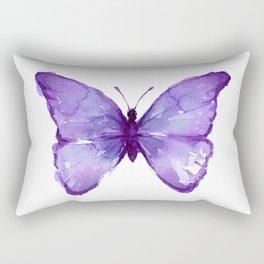Purple Butterfly Rectangular Pillow