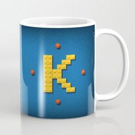 Letter K Initial Cap Coffee Mug