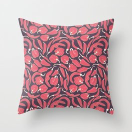 Red chili peppers Throw Pillow