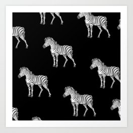 zebra pattern i Art Print