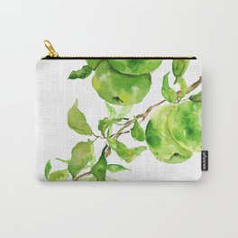 green apple watercolor Carry-All Pouch