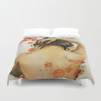 wallet Duvet Covers featuring Blend In by Madelyne Joan Templeton