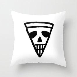 Pizza Skull Throw Pillow