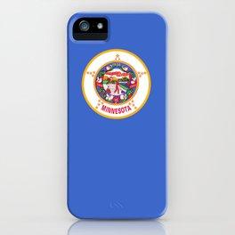 flag minnesota,america,usa,midwest,gopher state, north star,agate,minnesotan,Saint paul,minneapolis iPhone Case