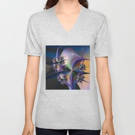 Abstract Upstairs Downstairs Balconies Unisex V-Neck