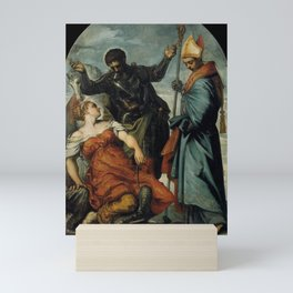Tintoretto - St Louis of Toulouse, St George and the Princess Mini Art Print