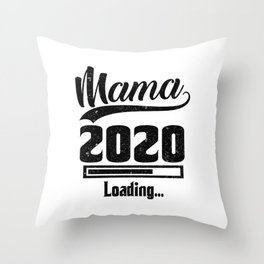 Damen Mama Loading 2020 T-Shirt - Werdende Mutter Geschenk Throw Pillow