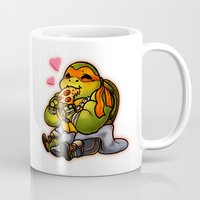 chibi Mugs featuring Chibi Michelangelo by Noodles ^7^