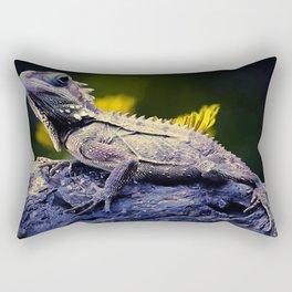 painting dragon lizart Rectangular Pillow