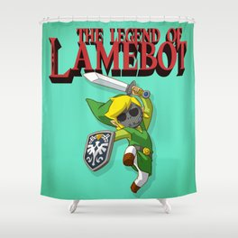 The Legend of LAMEBOT Shower Curtain