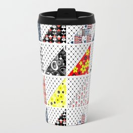 Multi-colored patchwork Travel Mug