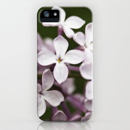 Lilac blossoms iPhone Case