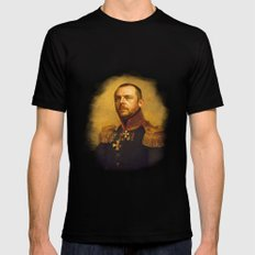 Simon Pegg - replaceface Mens Fitted Tee Black MEDIUM