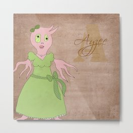 Princess Ayzee (Princess Monsters A to Z) Metal Print