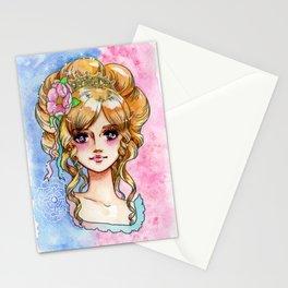 rococo princess in shojo-manga Stationery Cards