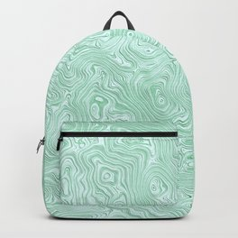 Mint Green Silk Moire Pattern Backpack