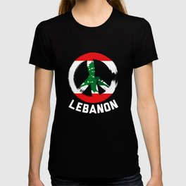 Lebanon Peace Sign Tee T-shirt