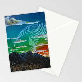 Mountain City View Stationery Cards