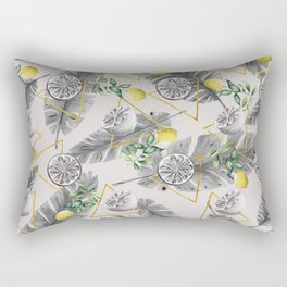 Pattern triangles with lemons Rectangular Pillow