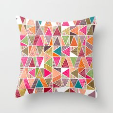 Roof Colorful Throw Pillow