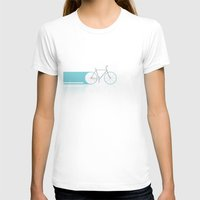 bicycles T-shirts featuring Light Bicycles by John Jurik