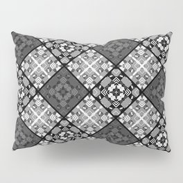 Black and white patchwork 3 Pillow Sham