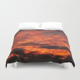 Fire Sunset Photo Duvet Cover