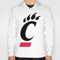 cincinnati Hoodies featuring NCAA - Cincinnati Bearcats by Katieb1013