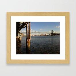 NYC East River | Manhattan Bridge Framed Art Print