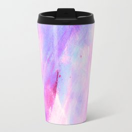 Pastel pink lavender teal watercolor brushstrokes Travel Mug