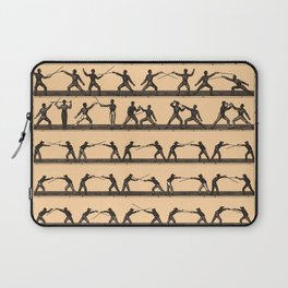 Vintage Fencing Swordsmanship Diagram (1907) Laptop Sleeve
