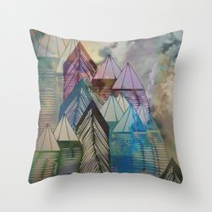 Triangular Endings on the Top Above the Clouds / Urban 04-11-16 Throw Pillow