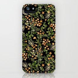 OIN009 Floral Puzzle AOP iPhone Case