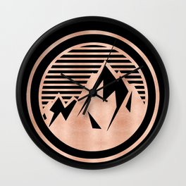 THE MOUNTAIN Rose Gold Wall Clock