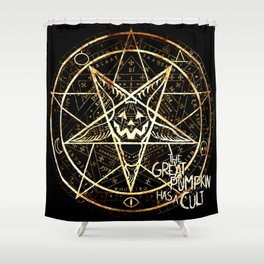 Cult of the Great Pumpkin: Pentagram Shower Curtain