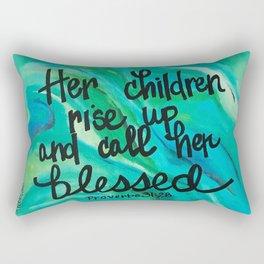 Her children rise up Rectangular Pillow