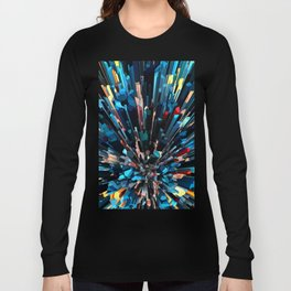 Three Dimensional Color Stacks Long Sleeve T-shirt