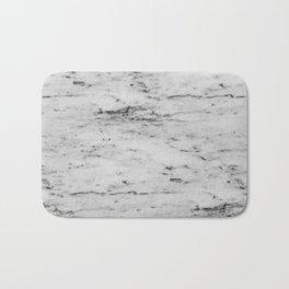 White Marble with Black Flecks Bath Mat