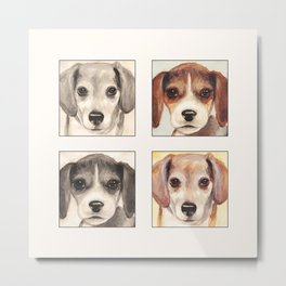 Beagles Cute Painting Design Metal Print