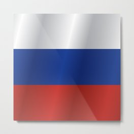 Flag of Russia Metal Print