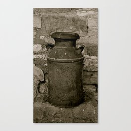 Old Milk Can Canvas Print